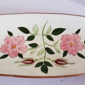 """stangl Accents - Stangl pottery  WIld rose 15"""" Bread serving dish"""
